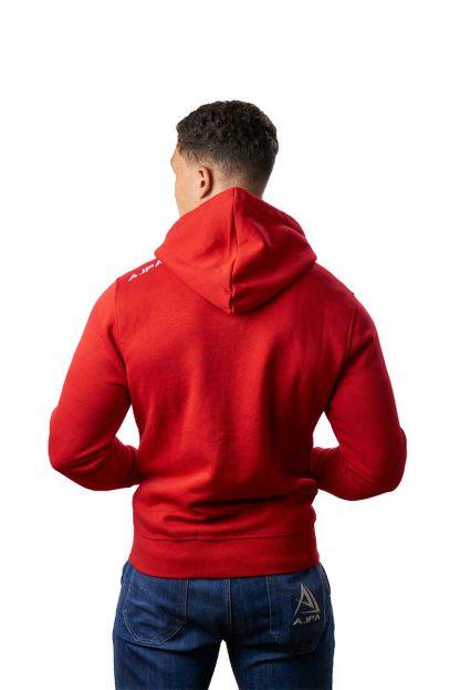 czerwona bluza rozpinana z kapturem ajpa
