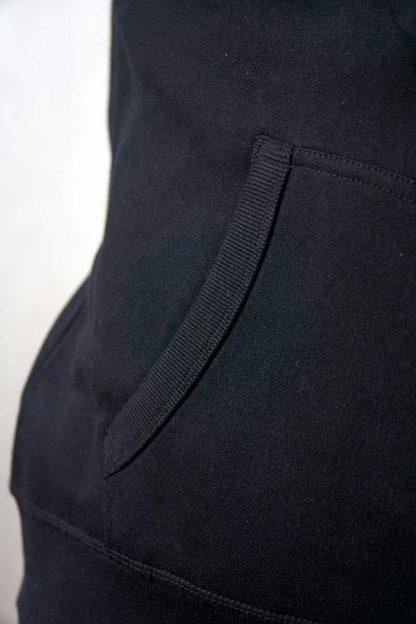 gruba bluza czarna z kapturem ajpa