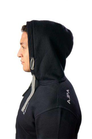 gruba rozpinana bluza czarna ajpa