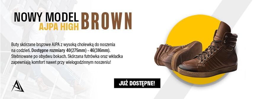 ajpa high nowy model brown sklep