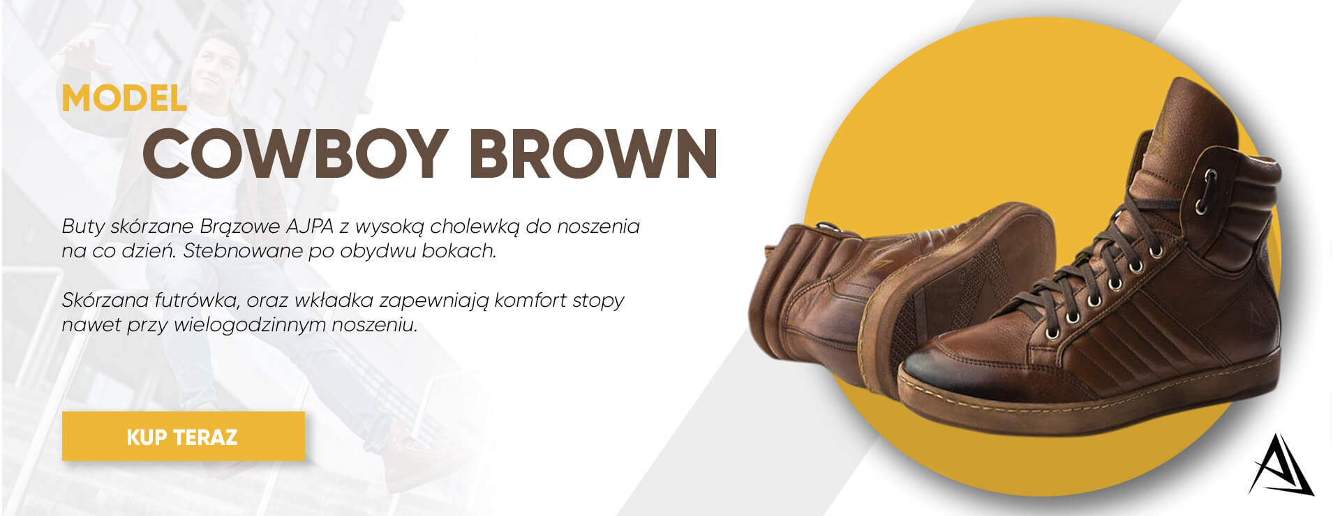 baner buty cowboy brown ajpa