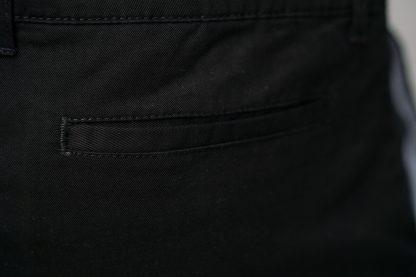 ajpa krótkie spodenki chino czarne kieszeń